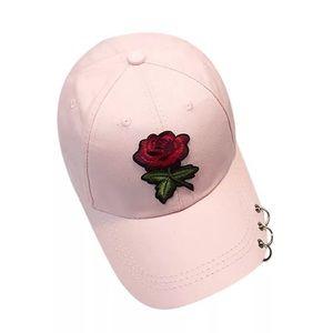 Metal Rings Rose Pink Hat